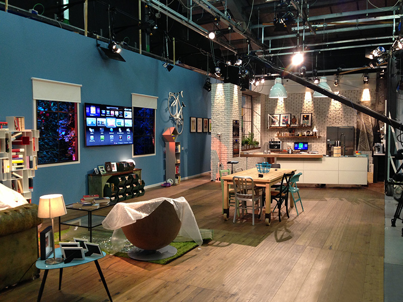 Realizzazione studio 'The Cooking' con Davide Oldani - Real TV